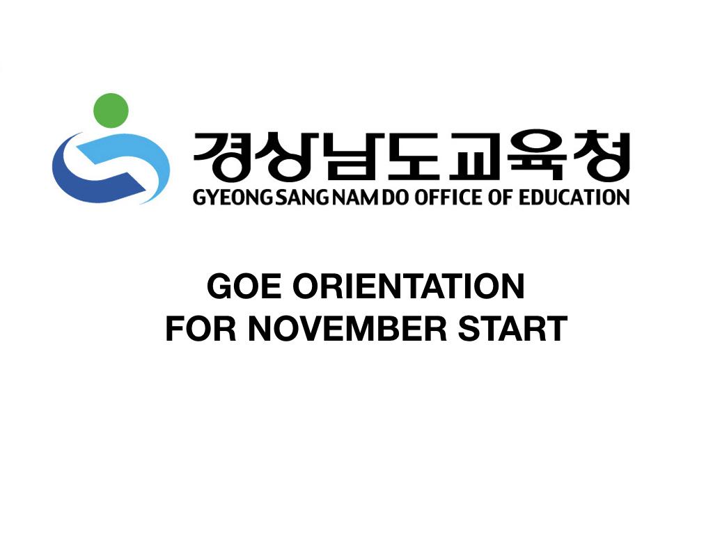 ds.001 - GOE - November Intake Orientation
